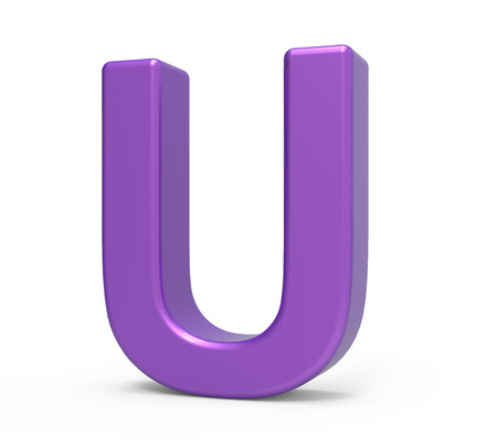 Right leaning 3d rendering purple letter y isolated white right leaning 3d rendering purple letter u isolated white background photo sciox Images