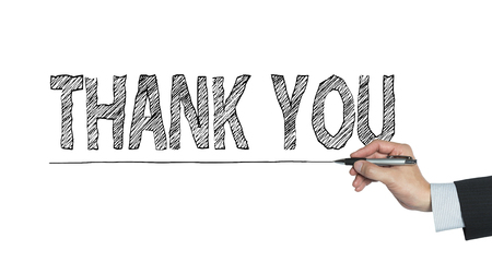 te negro: thank you written by hand, hand writing on transparent board, photo