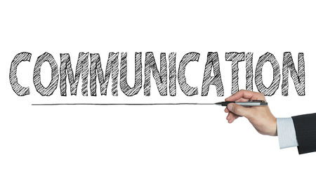 written communication: communication  written by hand, hand writing on transparent board, photo