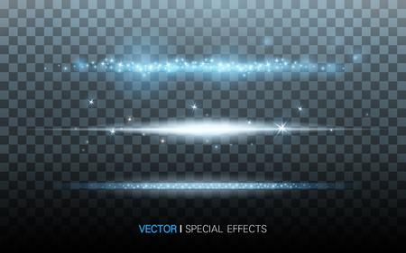 透明の背景、3 D イラストレーション上の青い光の筋