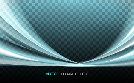 lustrous: turquoise lustrous wavy effect on two sides, 3d illustration transparent background Illustration