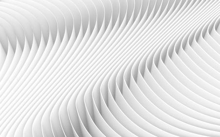 white sheet: 3D rendering wavy paper sheets, paper texture background for design Stock Photo
