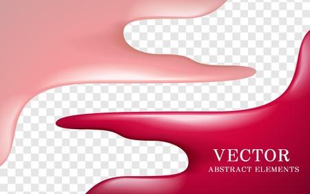 transparent background: Attractive lip gloss texture, glossy pink texture on transparent background, 3d illustration Illustration