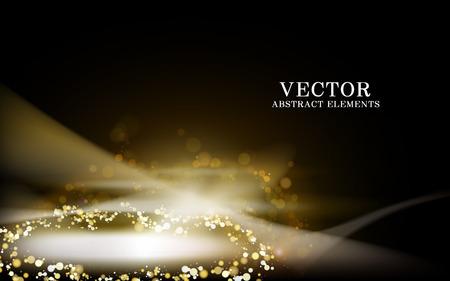 Goldenes Lichtwellenelement, transparenter Hintergrund, 3d Abbildung