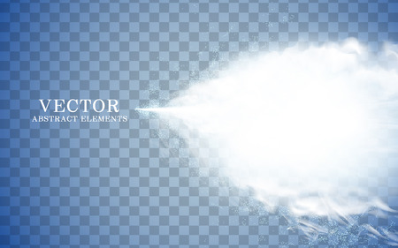 focus: mist effect and icy cone, transparent background, 3d illustration