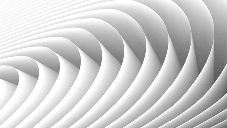 waves abstract: 3D rendering wavy paper sheets, paper texture background for design Stock Photo