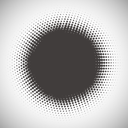 halftone dots: Abstract halftone pattern design in beige and brown. Round shape background.