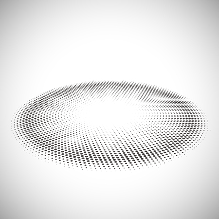 textured effect: Abstract halftone pattern design in beige and brown. Oval shape.