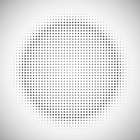 round: Abstract halftone pattern design in beige and brown. Round shape background.