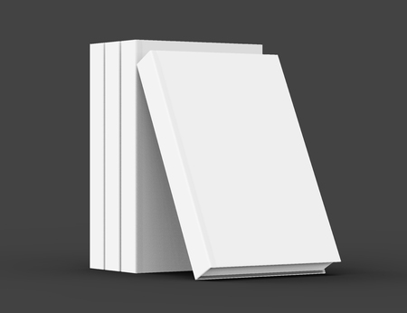 books isolated: 3D rendering books mockup, stack of blank hardcover books isolated on black background Stock Photo