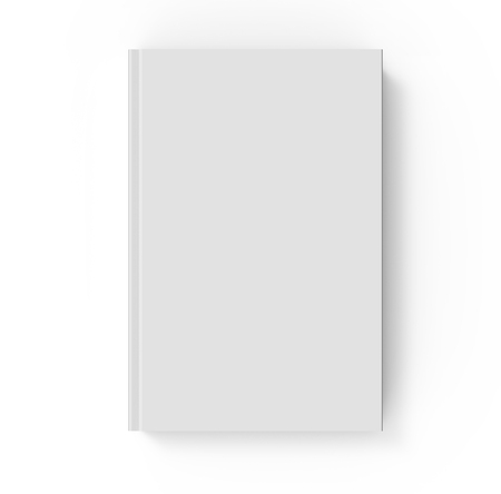 3d rendering book mockup top view of blank hardcover book design