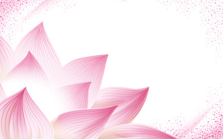 flower background, with a half pink lotus in the corner of the picture, 3d illustration