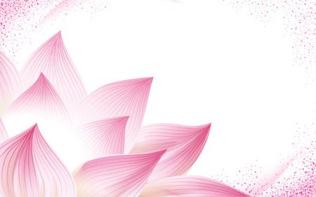 Blume Hintergrund, mit einem halben Pink Lotus in der Ecke des Bildes, 3D-Darstellung Standard-Bild - 68413108