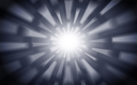 explosion of white lights emitting, can be used as background, 3d illustration