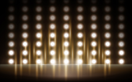 that: lighted stage background that can display things, 3d illustration