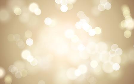 glistening: warm golden bokeh blurred background, 3d illustration