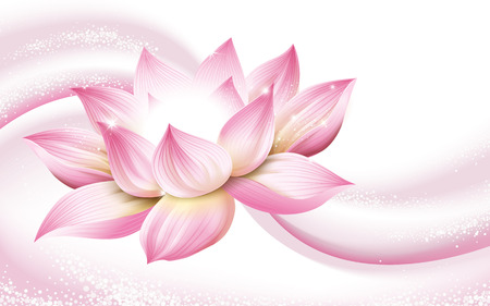 flower background, with a complete pink lotus in the picture, 3d illustration Stock fotó - 68413081