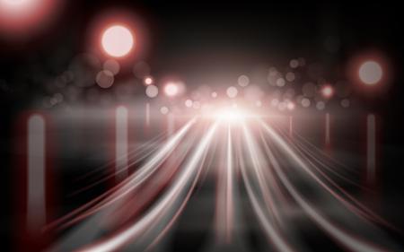 light streaks: red light streaks element, bokeh background 3d illustration