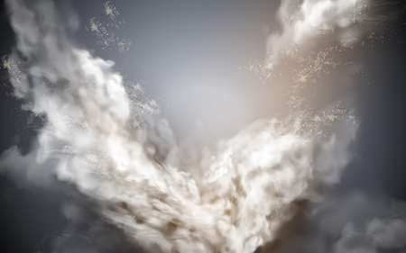 cloudy sky element, gray background with celestial feelings, 3d illustration