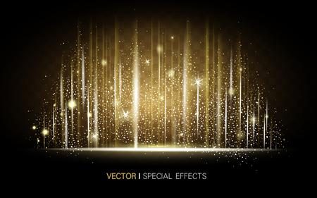金色の金属光沢の背景、特殊効果の要素として使用できます。