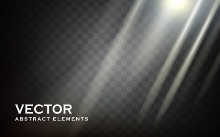 penetrate: light shines in from upper place element, transparent background