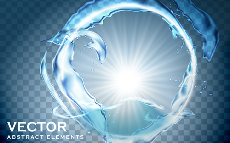 hollow aquatic ring element; transparent background 3d illustration Banco de Imagens - 71475562