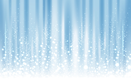 light blue background with powder snow, 3d illustration