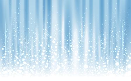 light blue background with powder snow, 3d illustration