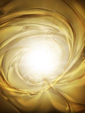 golden abstrakte Lichteffekt verwischt, kann als Hintergrund, 3D-Darstellung verwendet werden Vektorgrafik