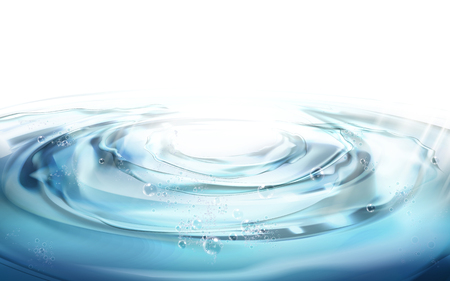 water ripple elements, can be used as background, 3d illustration