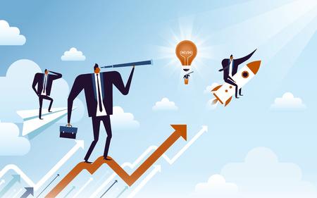 비즈니스 개념 그림, 적합 한 남자 비즈니스 성장을 나타내는 컬렉션