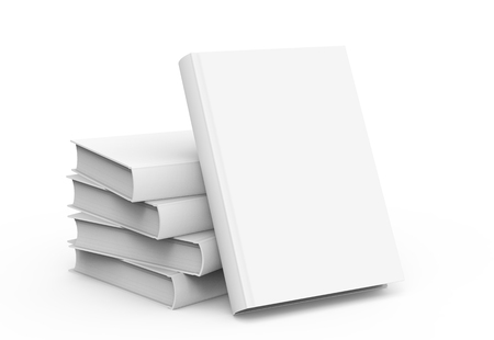 3d rendering blank hard cover books for design uses, isolated white background Banco de Imagens - 79269851