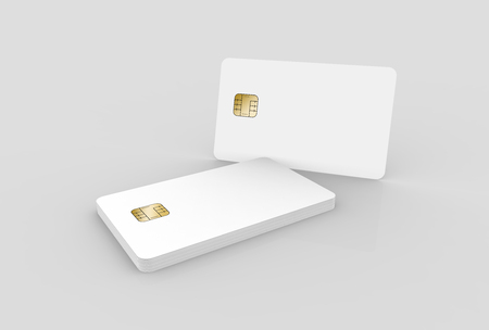 blank chip cards for design uses, isolated light gray background, 3d rendering Stock Photo - 79880206