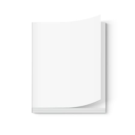 空白の分厚い本 3 d イラスト、ページをオンを使用、分離の白背景のデザイン要素は、ビューを管理者特権で