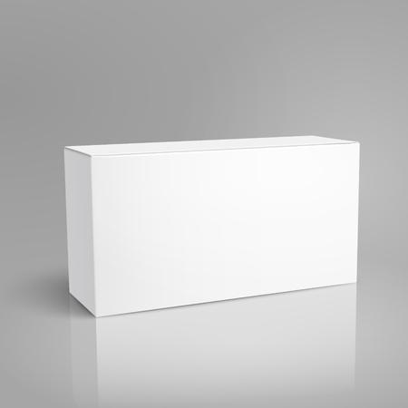 昇格を表示、孤立した灰色の背景、デザイン要素として使用できる傾斜用紙ボックス 3 d イラストを左、