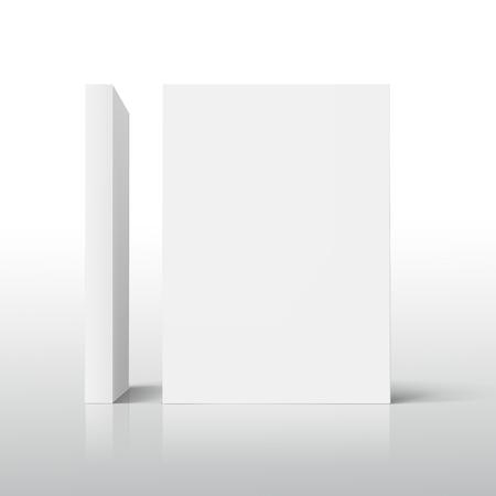 2 つ空立っている分厚い本 3 d 図では、l 字型に配置をサイドビュー、孤立した謎に包まれた白い背景のデザイン要素として使用できます。
