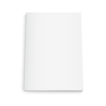 空白の本 3 d イラストレーション、デザイン要素、孤立した白い背景、トップ ビューとして使用できます。  イラスト・ベクター素材