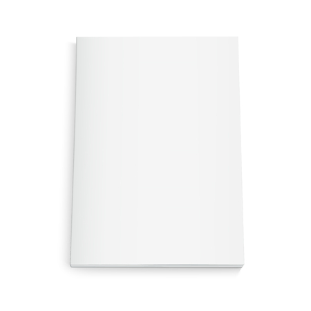 Blank book 3d illustration, can be used as design element, isolated white background, top view