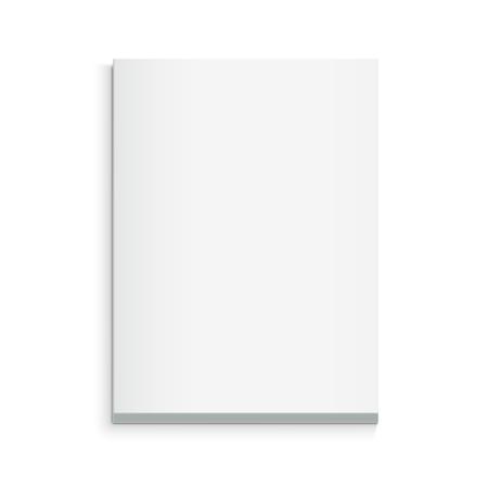 빈 두꺼운 책 3d 일러스트, 디자인 요소로 사용할 수 있습니다 격리 된 흰색 배경, 탑 뷰