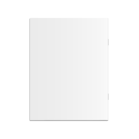 Blank brochure 3d illustration, can be used as design element, isolated white background, top view