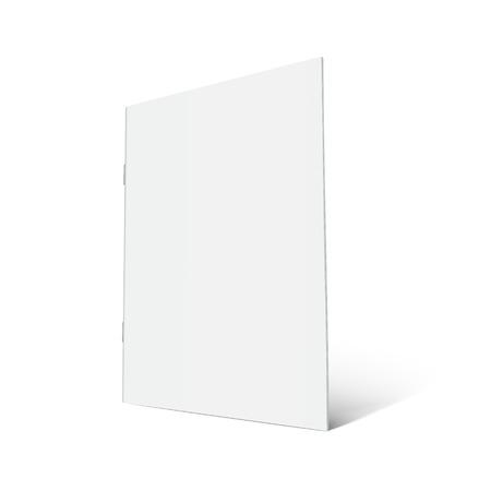 空白右立っているパンフレット 3 d イラストレーションを傾斜、デザイン要素、孤立した白い背景、サイドビューとして使用できます。  イラスト・ベクター素材