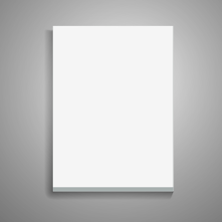 Blank thick book 3d illustration, can be used as design element, isolated gray background, top view Illustration