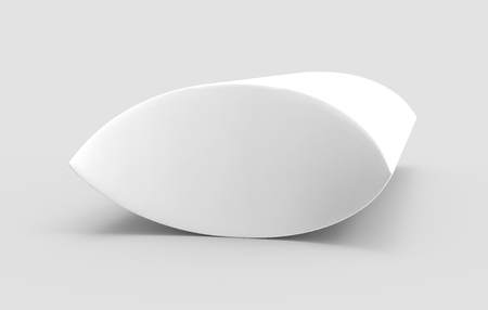 side view white 3d rendering left tilt blank pillow box, isolated gray background Фото со стока - 80704805