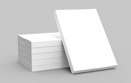 5 왼쪽 기울기 책 및 그들에 기울고 오른쪽 기울기 책 격리 된 회색 배경, 측면보기