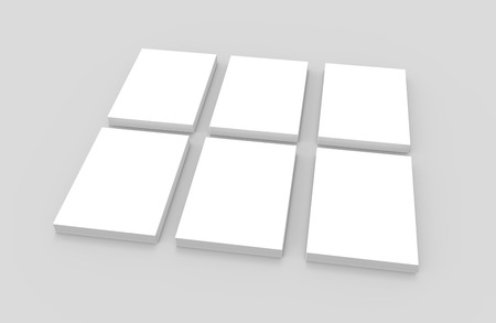 Blank books template, mockup for design uses in 3d rendering, elevated view