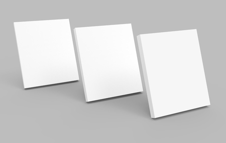 Blank books template, mockup for design uses in 3d rendering, three standing books