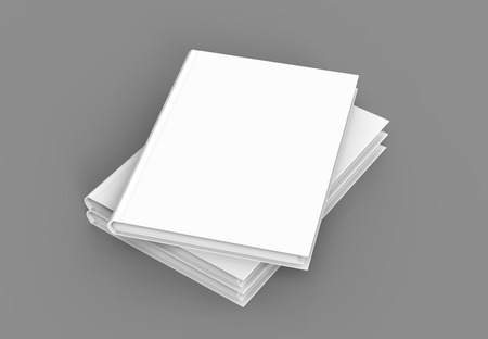 Hardcover books template, pile of blank books mockup for design uses, 3d rendering