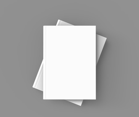 Hardcover books template, pile of blank books mockup for design uses, 3d rendering top view