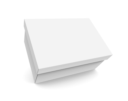 Blank paper box template single floating box mockup with lid blank paper box template single floating box mockup with lid in 3d rendering stock photo maxwellsz