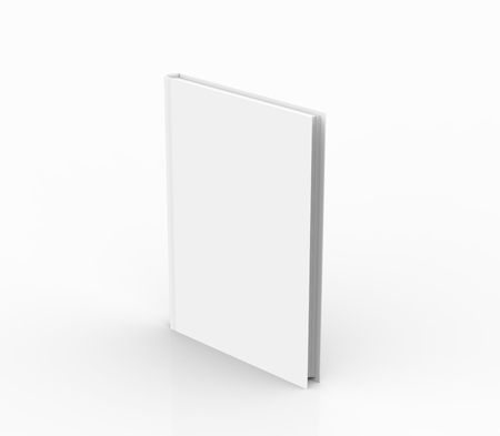 Hardcover book template, blank standing book mockup for design uses, 3d rendering